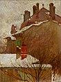 Egon Schiele - Häuser im Winter (Blick aus dem Atelier) - 5493 - Österreichische Galerie Belvedere.jpg