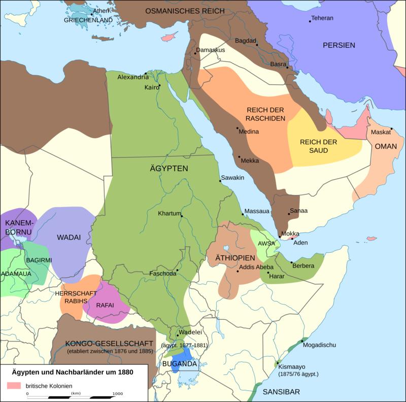 Localização de Sultanato de Aussa