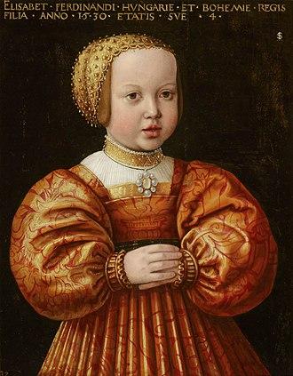 Elizabeth of Austria (1526–1545) - Elizabeth at age four by Jakob Seisenegger