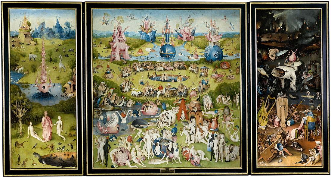Hieronymus Bosch: The Garden of Earthly Delights (klikkaa suuremmaksi)
