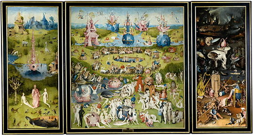 Hieronymus Bosch, The Garden of Earthly Delights, between 1480 and 1505.