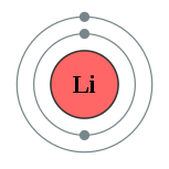 Electron shells of lithium (2, 1)