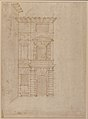 Elevation of Giulio Romano's House (recto); the Ruins from the Caelius Aqueduct and Temple of Claudius in Rome (verso) MET 49.56.15 RECTO.jpg