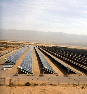 Energy in Israel - Solar field, Kibbutz Elifaz, Israel