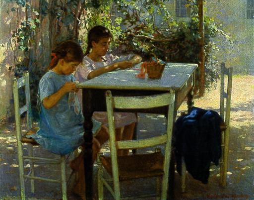 Elin Danielson-Gambogi - Young needleworkers (1915)