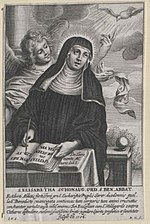 Depiction of Elisabeth in a manuscript at the Austrian National Library