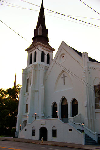 Charleston church shooting - Image: Emanuel African Methodist Episcopal (AME) Church Corrected