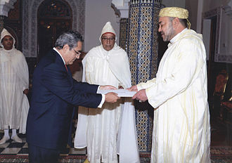 Keffiyeh - The King of Morocco wearing a rezzah