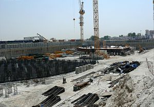 JW Marriott Marquis Dubai - Image: Emirates Park Towers Under Construction on 20 September 2007