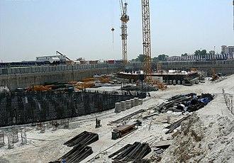 JW Marriott Marquis Dubai - Image: Emirates Park Towers Under Construction on 20 September 2007