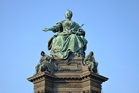 Empress Maria Theresia monument in Maria Theresien-Platz, Vienna, Austria