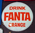 Enamel advert, Drink FANTA orange.JPG