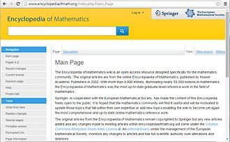 Encyclopedia of Mathematics - Encyclopedia of Mathematics snap shot