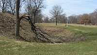 End of a ditch at the Great Circle in Newark.jpg