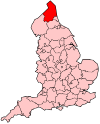 History of Northumberland - Northumberland, as its boundaries are today, shown here within England.