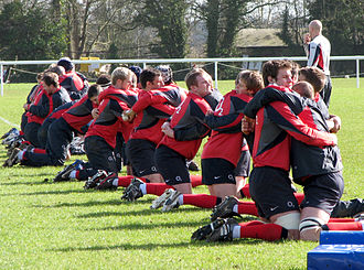 England national rugby union team - The England national squad training for the 2007 Rugby World Cup at the University of Bath.