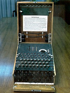 The Enigma machine, used in several variants by the German military between the late 1920s and the end of World War II, implemented a complex electro-mechanical polyalphabetic cipher to protect sensitive communications.  Breaking the Enigma cipher at the Biuro Szyfrów, and the subsequent large-scale decryption of Enigma traffic at Bletchley Park, was an important factor contributing to the Allied victory in WWII.