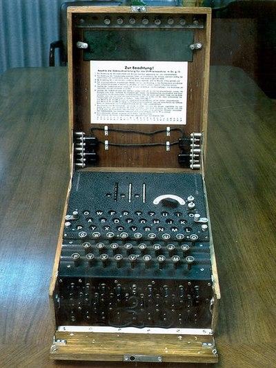 Σχήμα 2.3: Η μηχανή Αίνιγμα χρησιμοποιήθηκε ευρέως από την Γερμανία