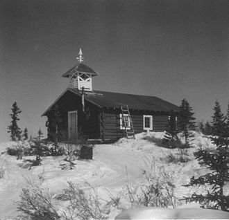 Arctic Village, Alaska - Episcopal church at Arctic Village.