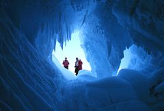 Erebus glacier cave NOAA 1978