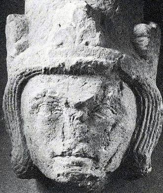 Eric XI of Sweden - Damaged 13th century bust assumed to be of King Eric