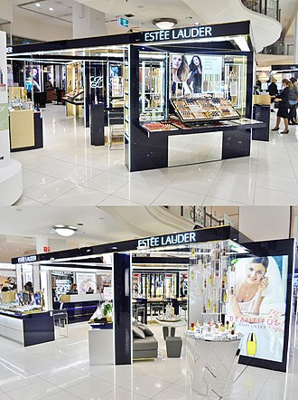 Estée Lauder Companies - The large Estée Lauder cosmetics counter at MYER Sydney City