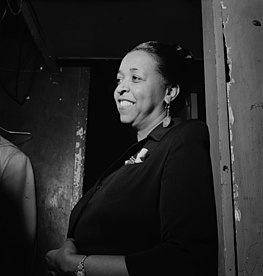 "Ethel Waters sang ""Stormy Weather"" at the Cotton Club. Ethel Waters - William P. Gottlieb.jpg"
