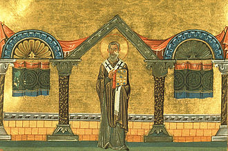 Eulogius of Alexandria - Miniature from the Menologion of Basil II