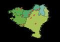 Euskal Herriko trikuharri esanguratsuenen lokalizazio mapa.png
