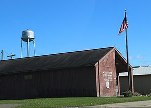Exeland, Wisconsin - Image: Exeland Wisconsin Post Office Water Tower WIS48