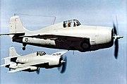 F4F-3 Wildcats of VF-5 in flight c1941
