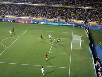 New Zealand national under-20 football team - New Zealand (in white) playing Cameroon in the 2011 FIFA U-20 World Cup.