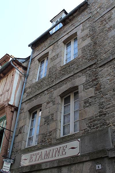 File:Facade du 5 rue de la Mittrie.JPG Исторические памятники Динана, достопримечательности Динана, фотографии Динана