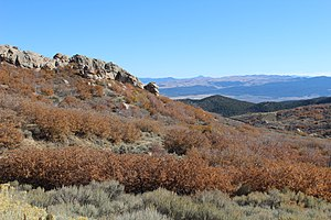 Mineral Mountains (Utah) - Facing east toward Beaver Valley from the Mineral Mountains