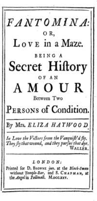 Fantomina cover