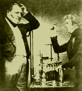 Electrochemistry - English chemist John Daniell (left) and physicist Michael Faraday (right), both credited as founders of electrochemistry today.