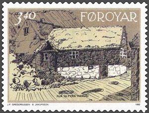Norðragøta - Image: Faroe stamp 231 hja glyvra hanusi