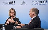 Federica Mogherini und Wolfgang Ischinger MSC 2017.jpg