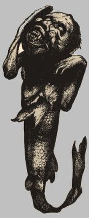 Fiji mermaid - P.T. Barnum's Feejee mermaid from 1842