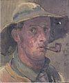 Felix Esterl - Selbstbildnis mit Pfeife - ca1926.jpeg