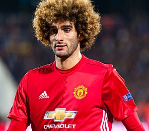 Marouane Fellaini - Fellaini playing for Manchester United in 2017