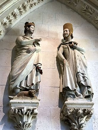 Ferdinand III of Castile - King Ferdinand and his wife, Elizabeth, depicted in the Burgos Cathedral