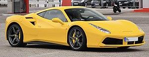 Ferrari 488 - Image: Ferrari 488 GTB yellow