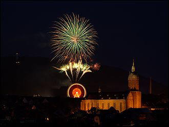 Annaberger Kät - Fireworks at the 486th Annaberger Kät in 2006