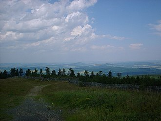 Ore Mountains/Vogtland Nature Park - View from the Fichtelberg looking north
