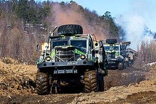 KrAZ-255 heavy truck produced by ukrainian KrAZ plant