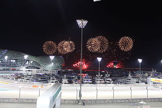 2015 Abu Dhabi Grand Prix - Fireworks after the race