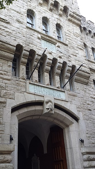 First Troop Philadelphia City Cavalry - Facade of the First Troop armory