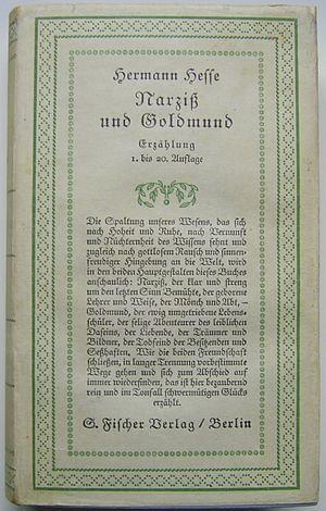 Narcissus and Goldmund - Image: Fischer Verlag Berlin Erstausgabe 1930