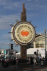 La Wharf-signo de fiŝkaptisto